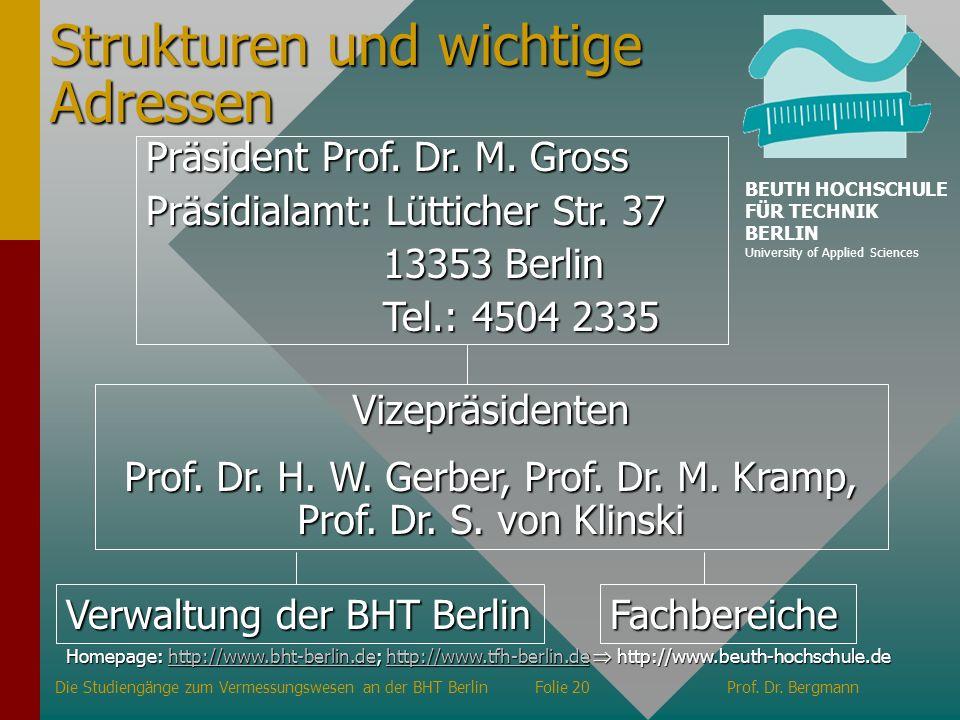 Prof. Dr. H. W. Gerber, Prof. Dr. M. Kramp, Prof. Dr. S. von Klinski
