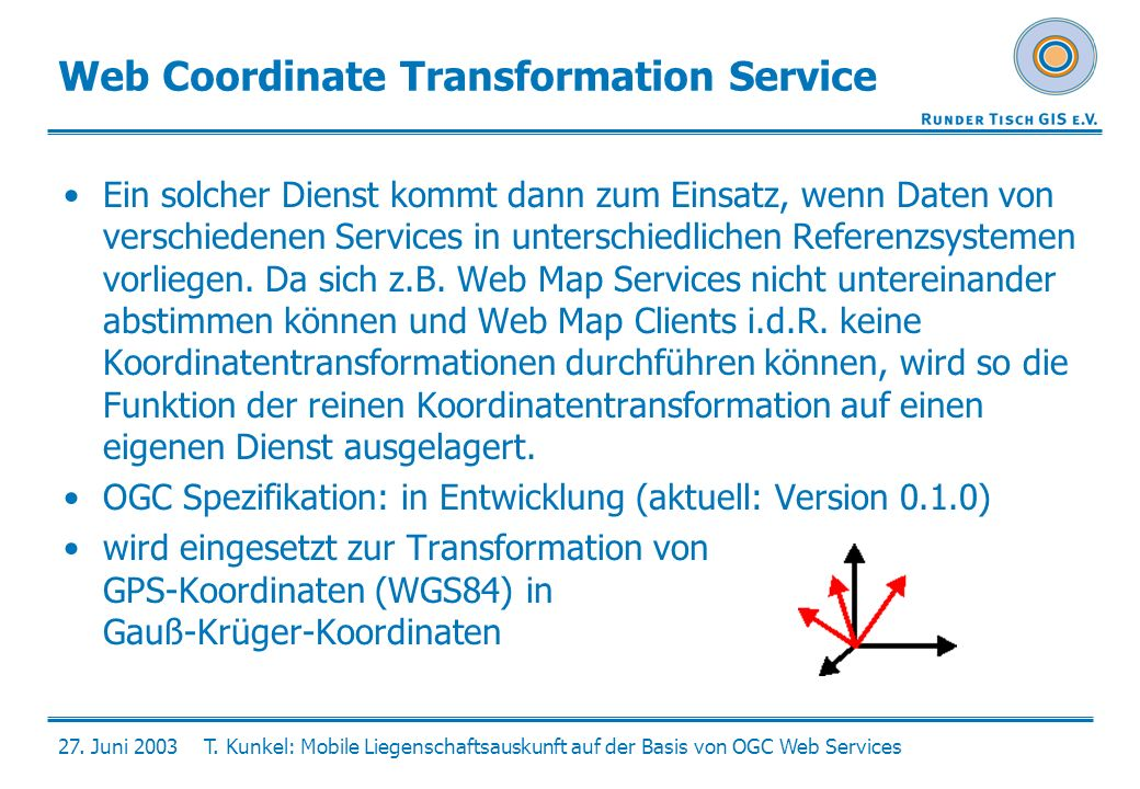 Web Coordinate Transformation Service