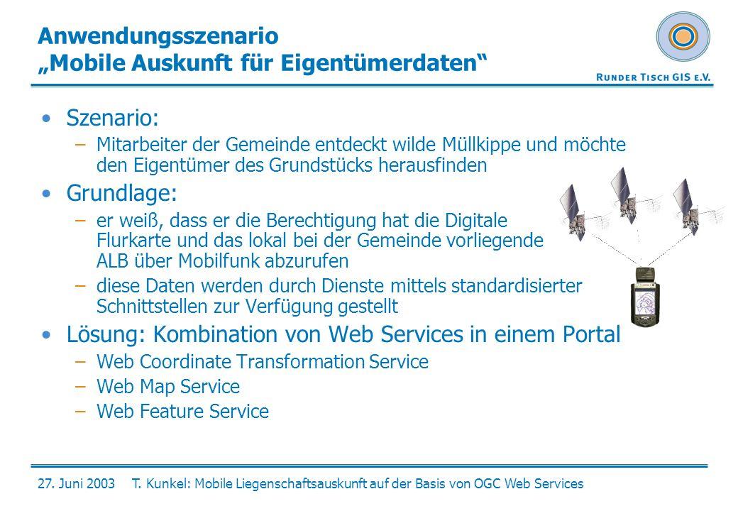 """Anwendungsszenario """"Mobile Auskunft für Eigentümerdaten"""