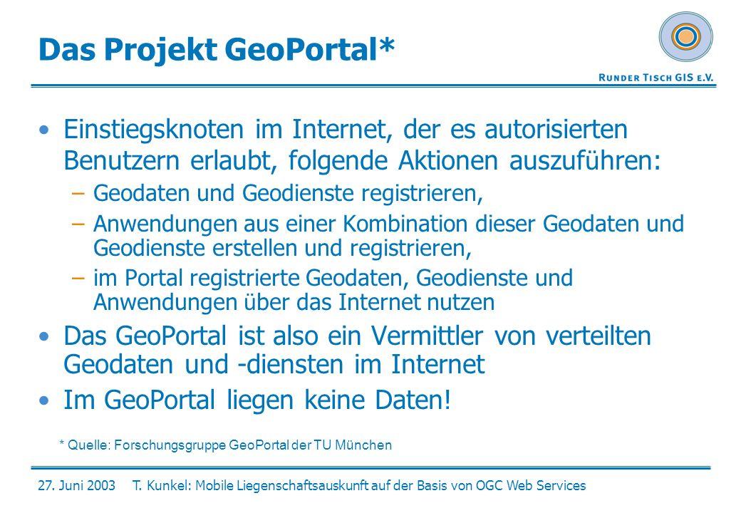 Das Projekt GeoPortal*