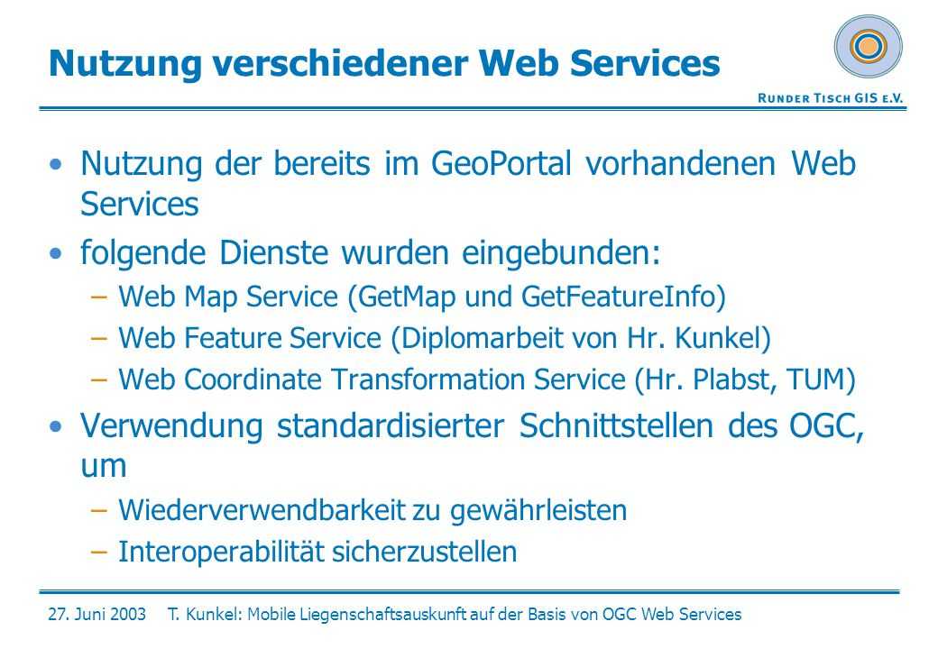 Nutzung verschiedener Web Services