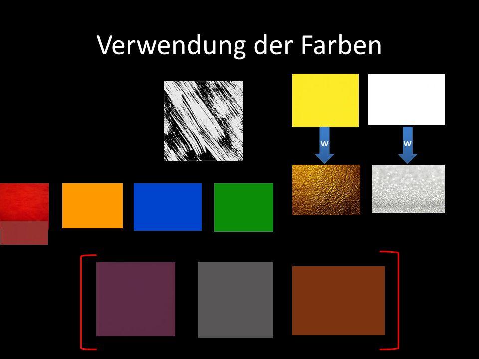 Verwendung der Farben w w