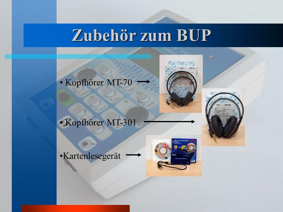 Zubehör zum BUP Kopfhörer MT-70 Kopfhörer MT-301 Kartenlesegerät