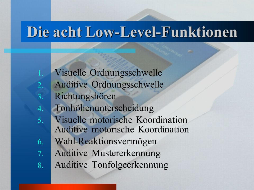 Die acht Low-Level-Funktionen
