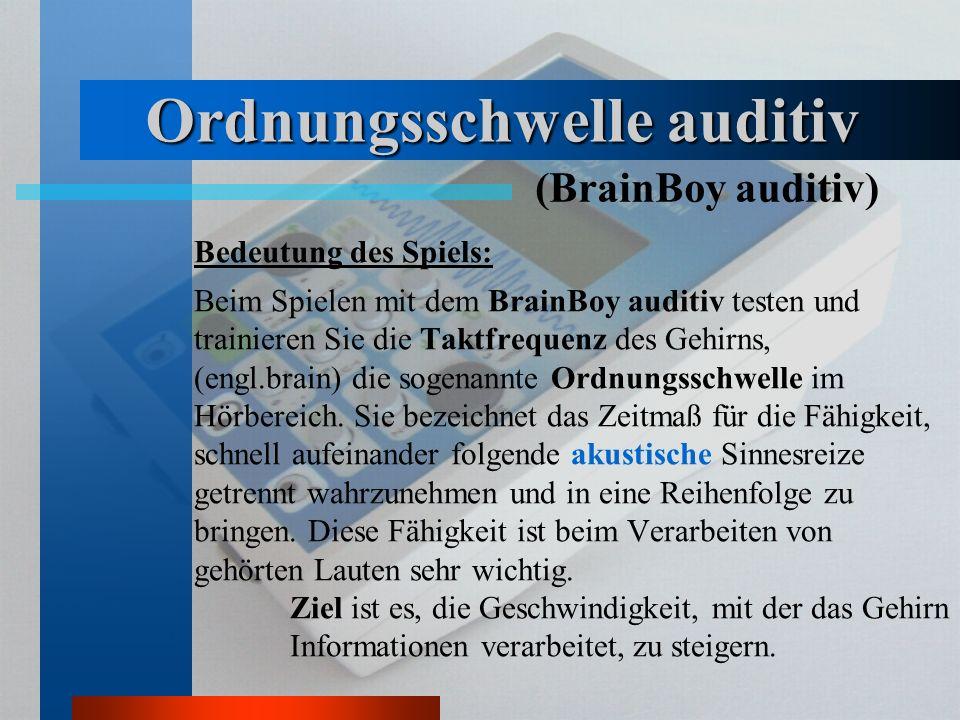Ordnungsschwelle auditiv