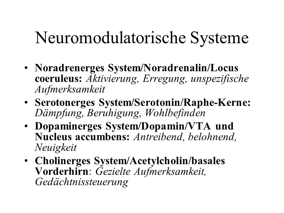Neuromodulatorische Systeme