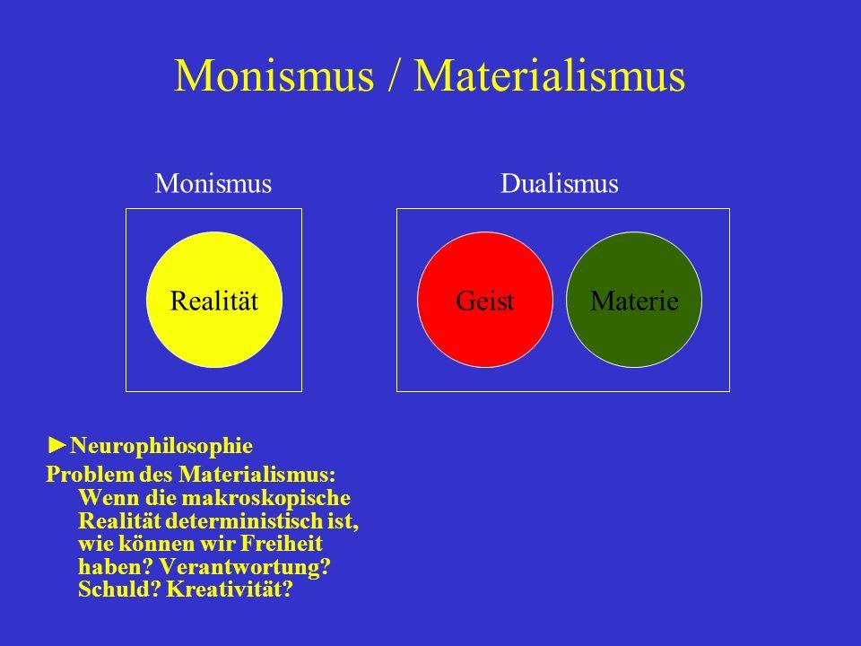 Monismus / Materialismus