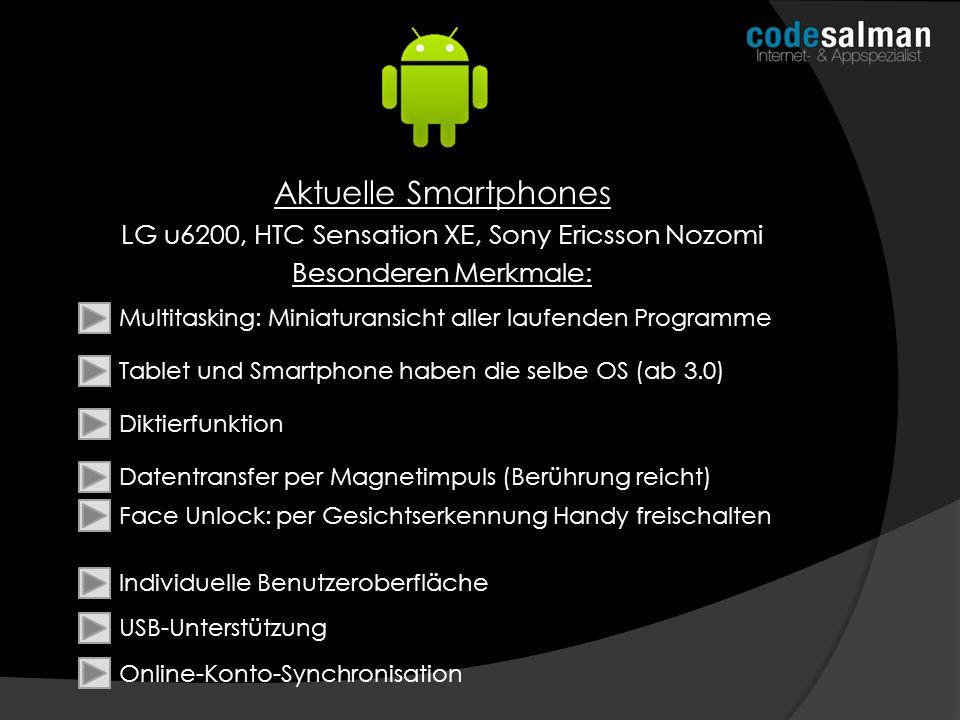 LG u6200, HTC Sensation XE, Sony Ericsson Nozomi