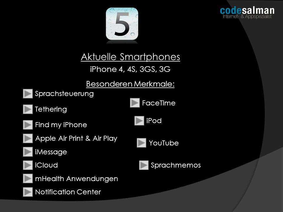 Aktuelle Smartphones iPhone 4, 4S, 3GS, 3G Besonderen Merkmale: