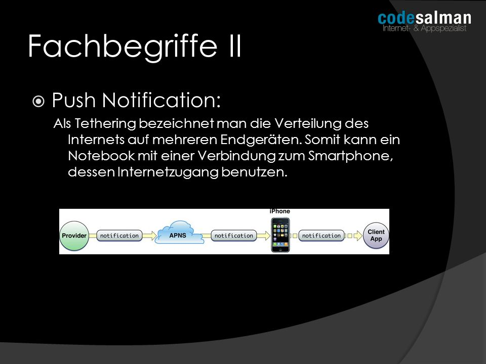 Fachbegriffe II Push Notification: