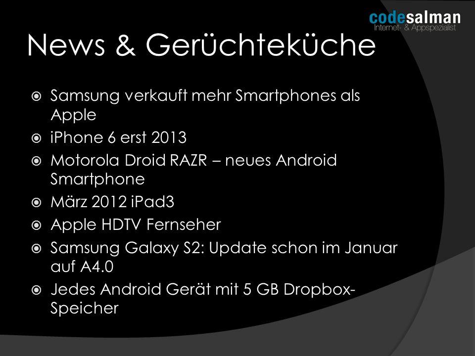 News & Gerüchteküche Samsung verkauft mehr Smartphones als Apple