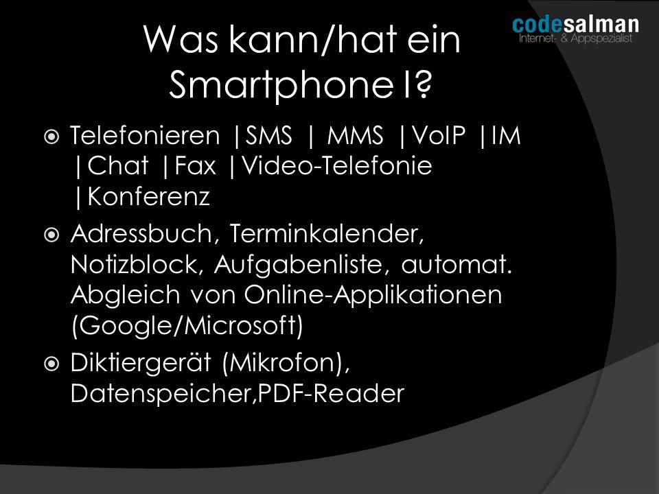 Was kann/hat ein Smartphone I
