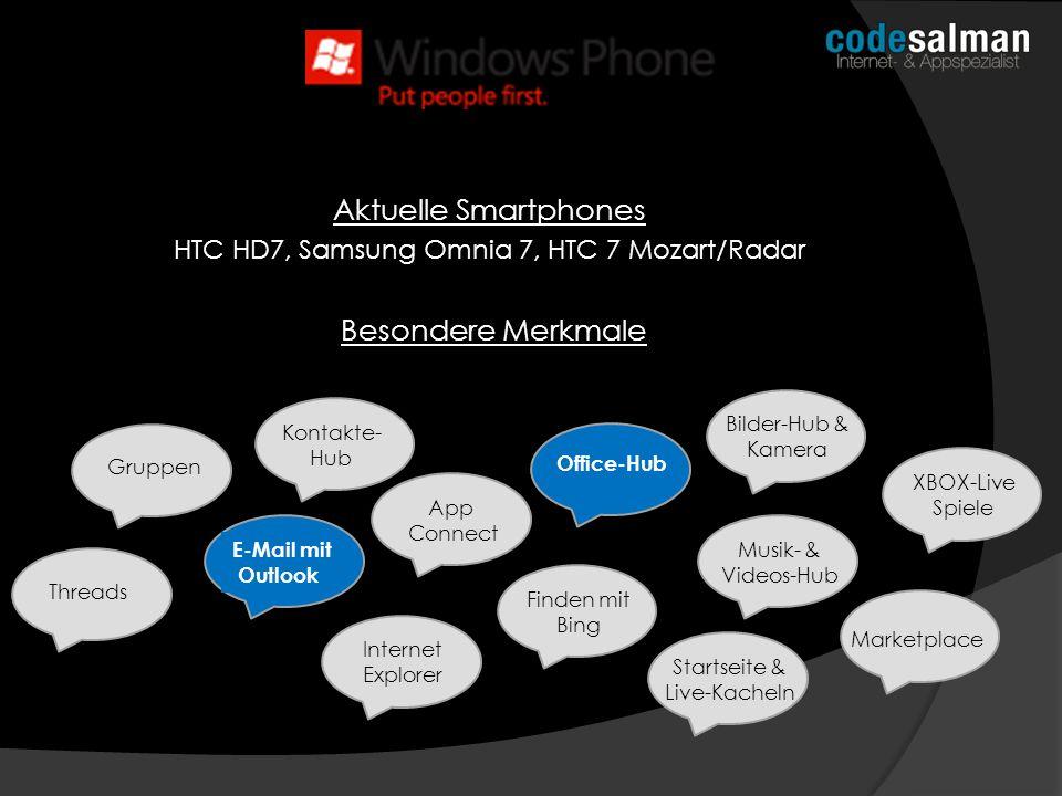 HTC HD7, Samsung Omnia 7, HTC 7 Mozart/Radar