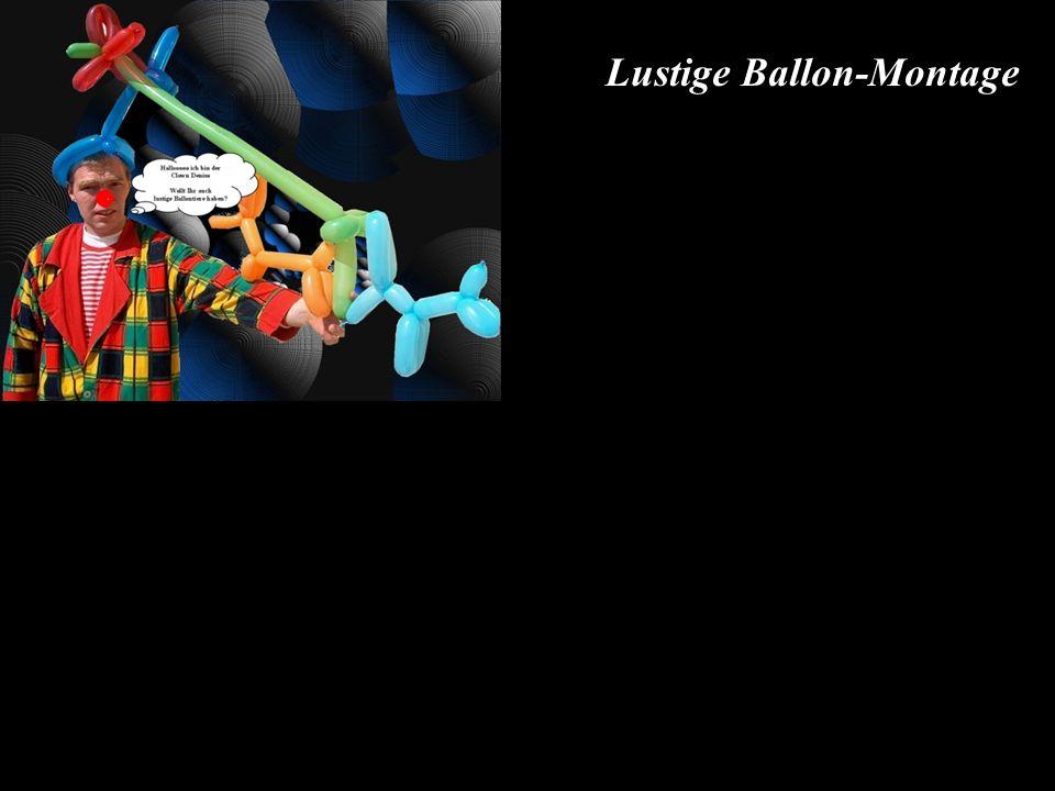 Lustige Ballon-Montage