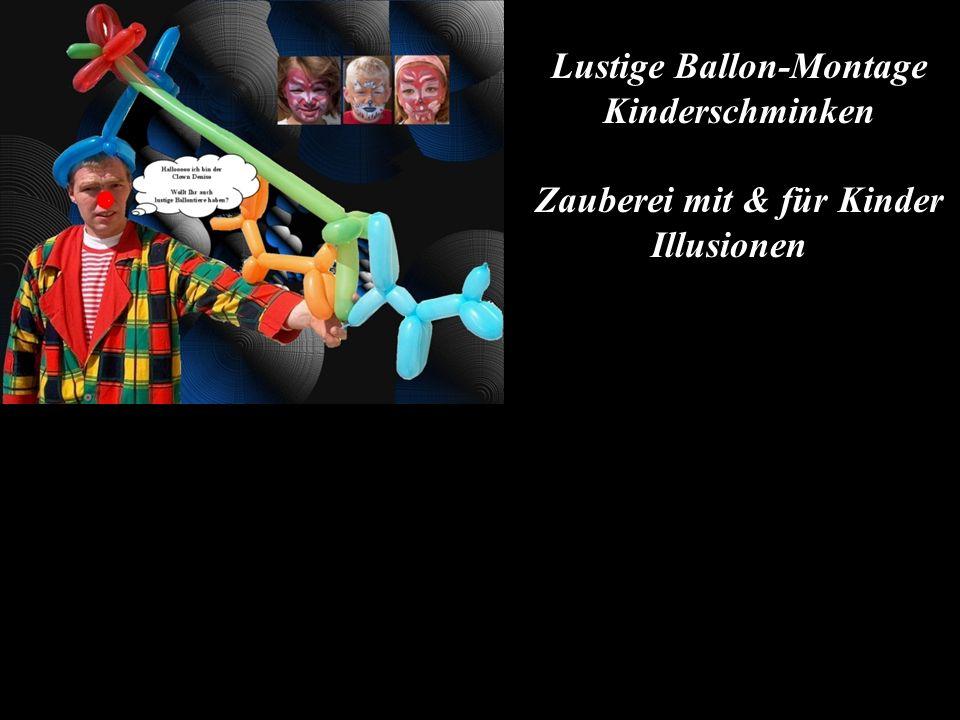 Lustige Ballon-Montage Zauberei mit & für Kinder