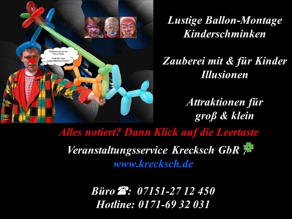 Lustige Ballon-Montage Kinderschminken Zauberei mit & für Kinder