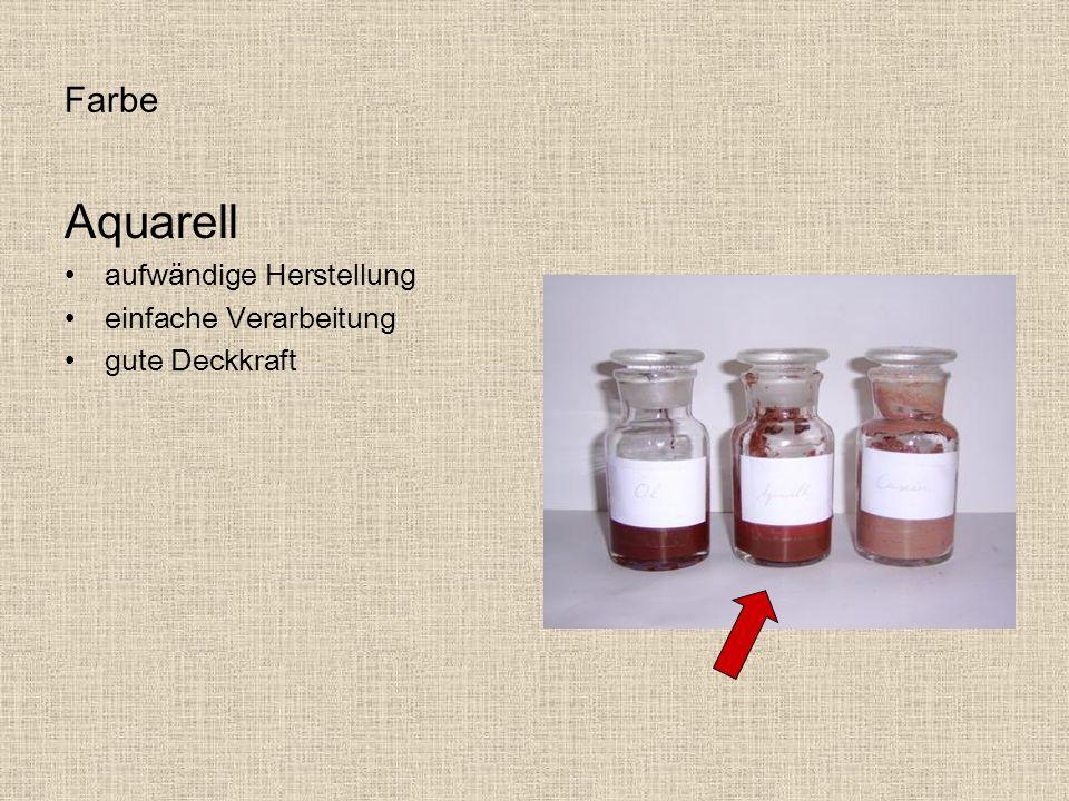Aquarell Farbe aufwändige Herstellung einfache Verarbeitung