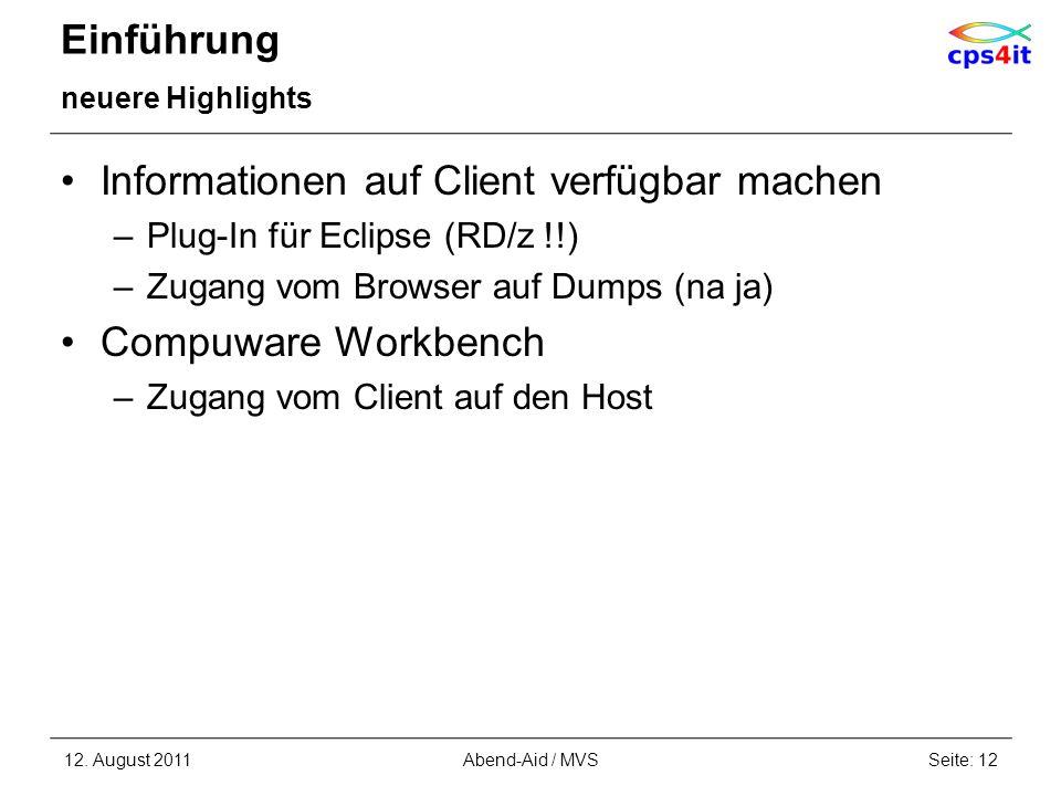 Informationen auf Client verfügbar machen