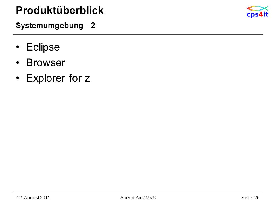 Produktüberblick Eclipse Browser Explorer for z Systemumgebung – 2