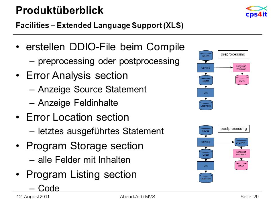 erstellen DDIO-File beim Compile Error Analysis section