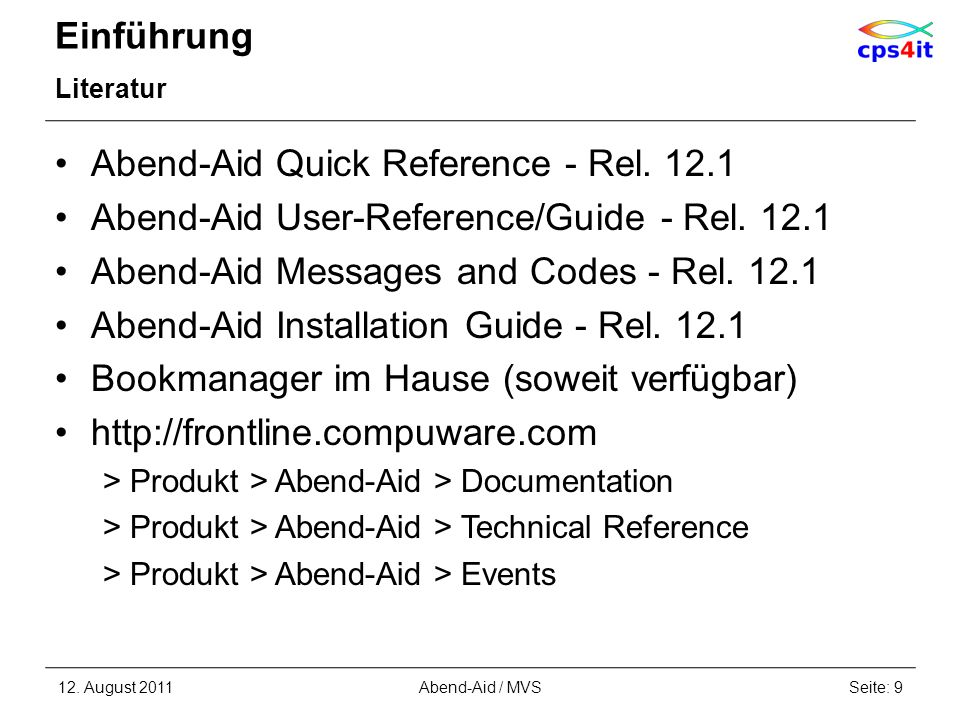 Abend-Aid Quick Reference - Rel. 12.1