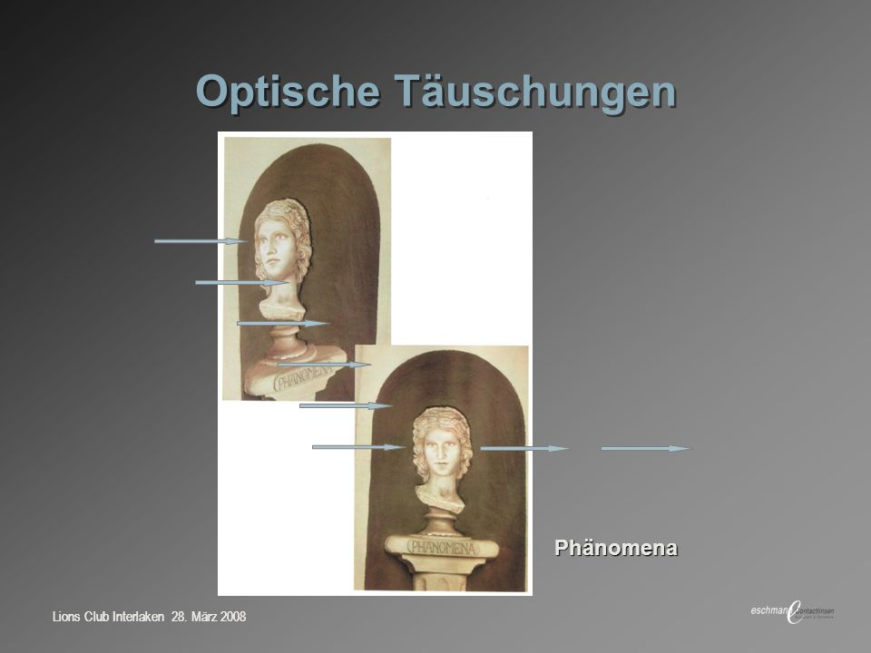 Optische Täuschungen Phänomena Lions Club Interlaken 28. März 2008
