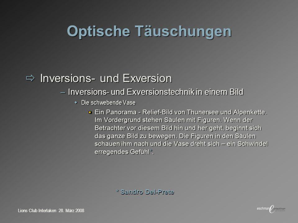 Optische Täuschungen Inversions- und Exversion