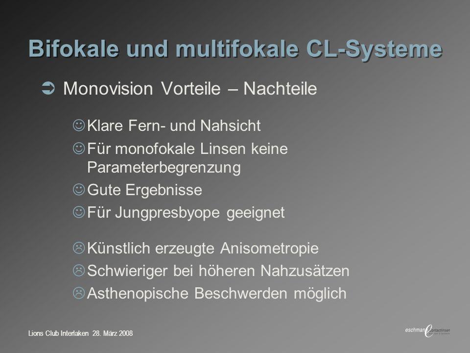 Bifokale und multifokale CL-Systeme