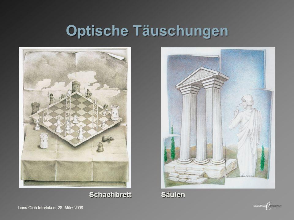 Optische Täuschungen Schachbrett Säulen