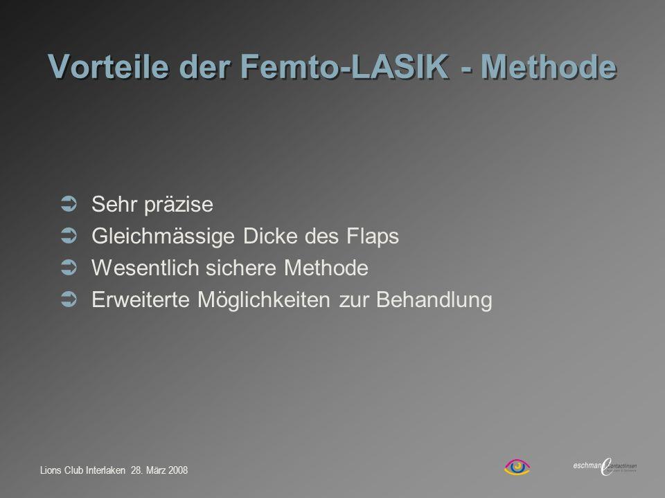 Vorteile der Femto-LASIK - Methode