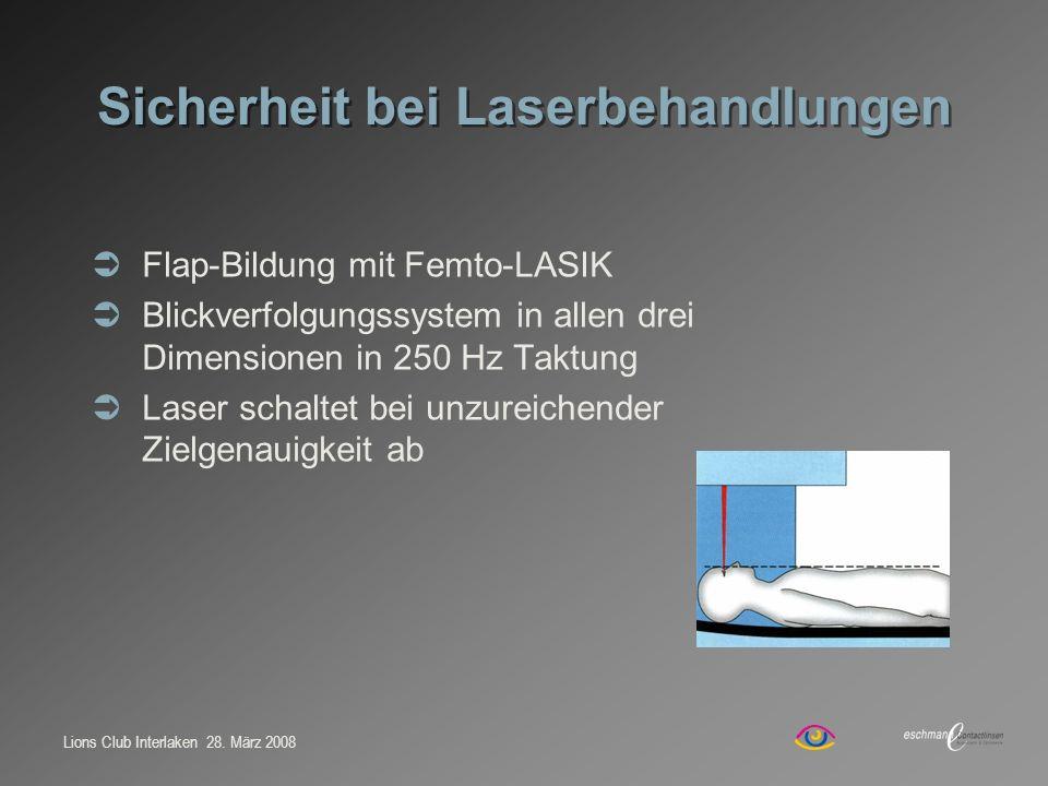 Sicherheit bei Laserbehandlungen