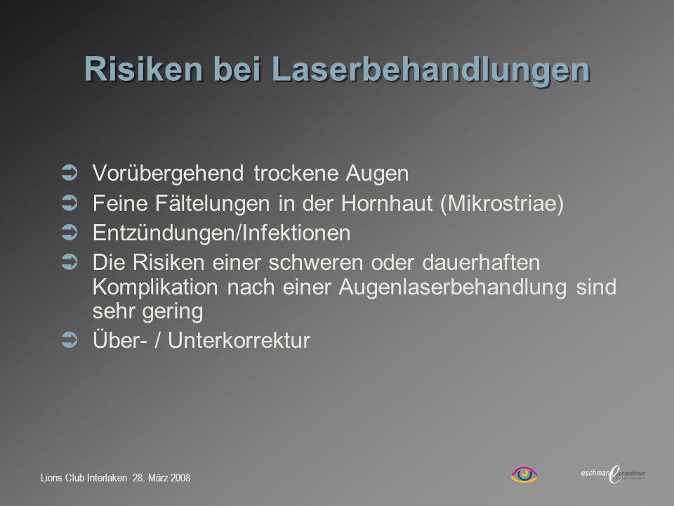 Risiken bei Laserbehandlungen