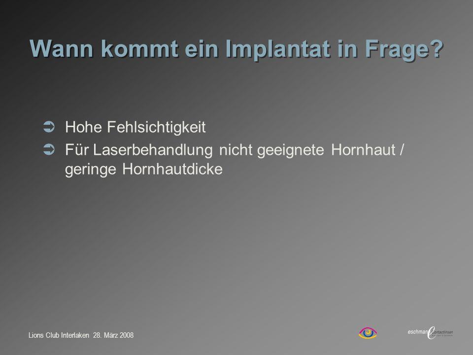 Wann kommt ein Implantat in Frage