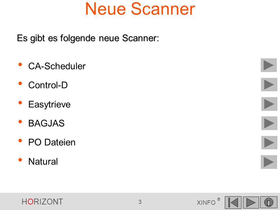 Neue Scanner Es gibt es folgende neue Scanner: CA-Scheduler Control-D