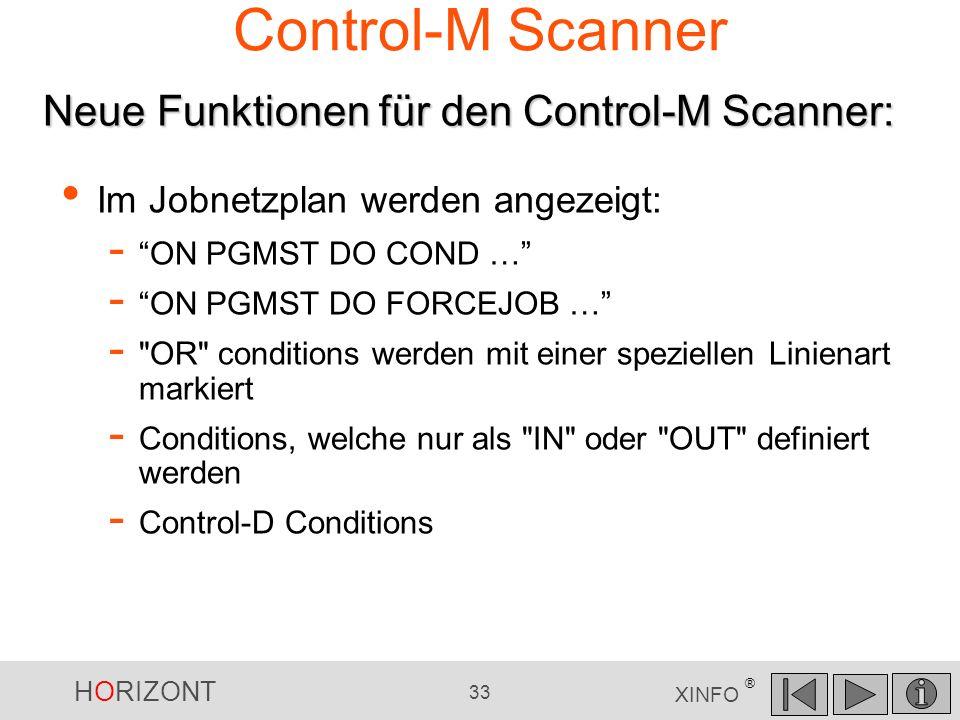 Control-M Scanner Neue Funktionen für den Control-M Scanner: