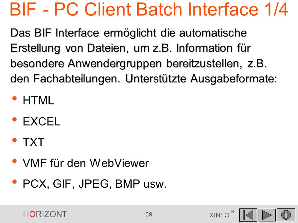 BIF - PC Client Batch Interface 1/4