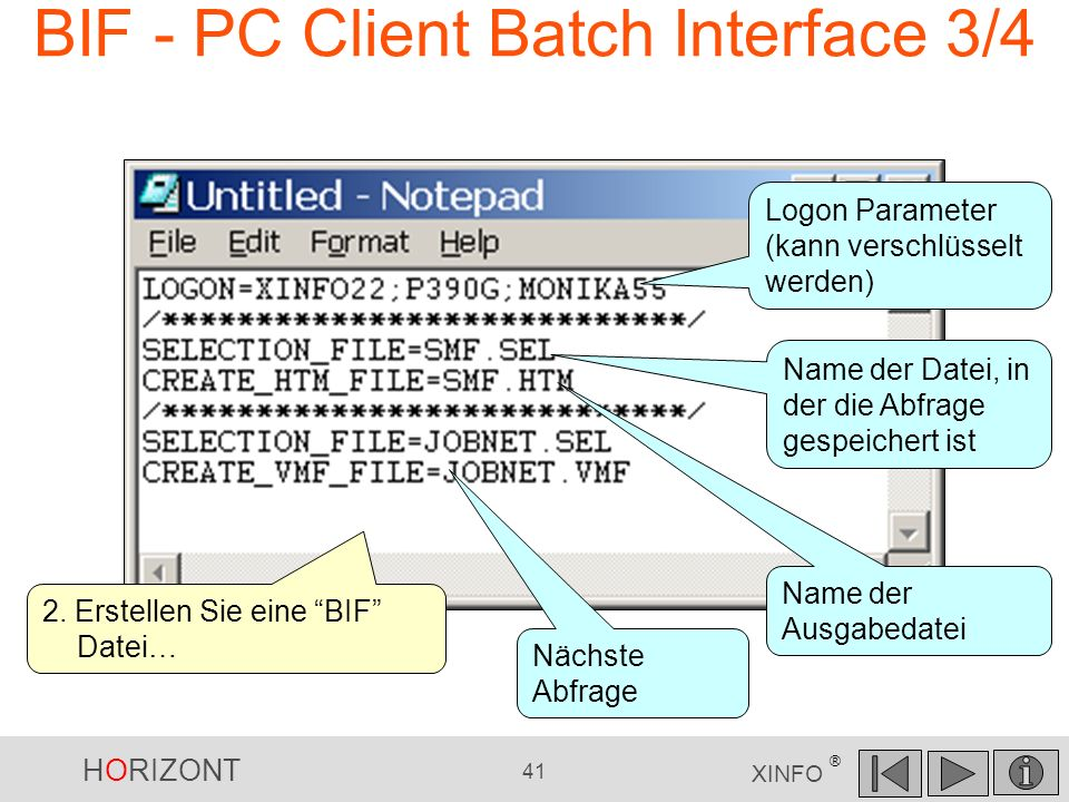 BIF - PC Client Batch Interface 3/4