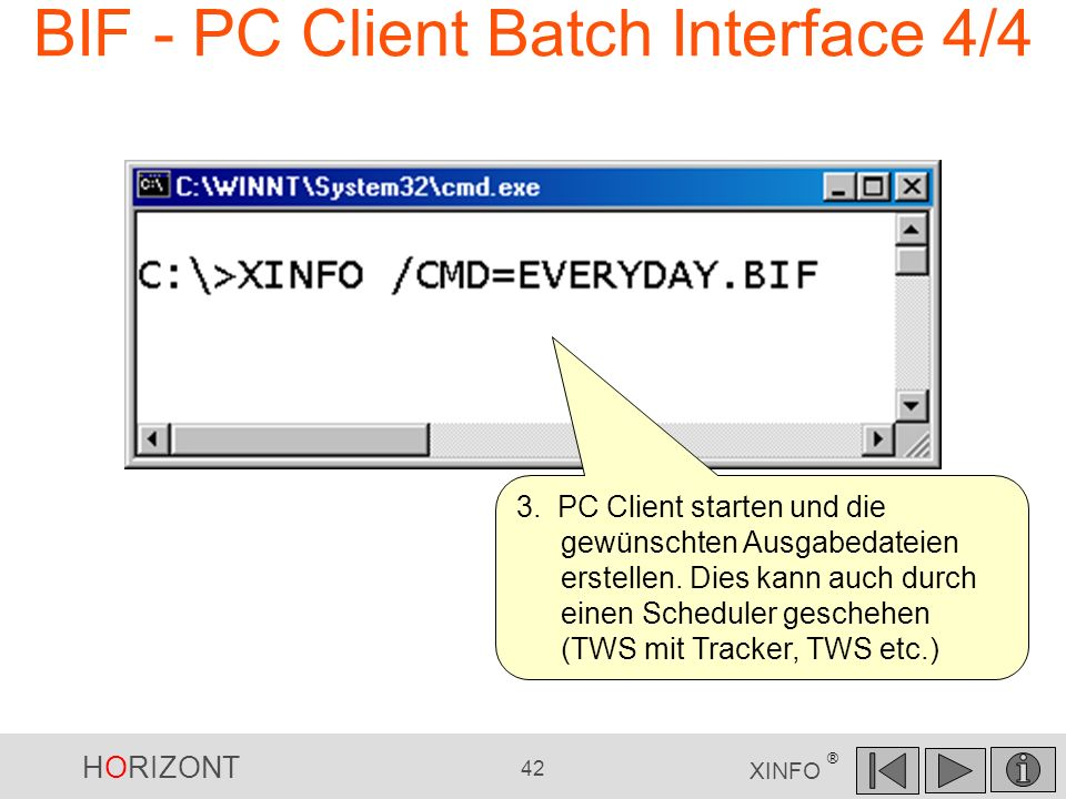 BIF - PC Client Batch Interface 4/4