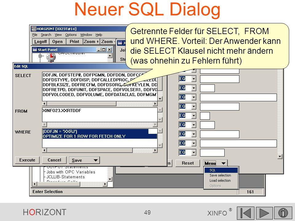 Neuer SQL Dialog