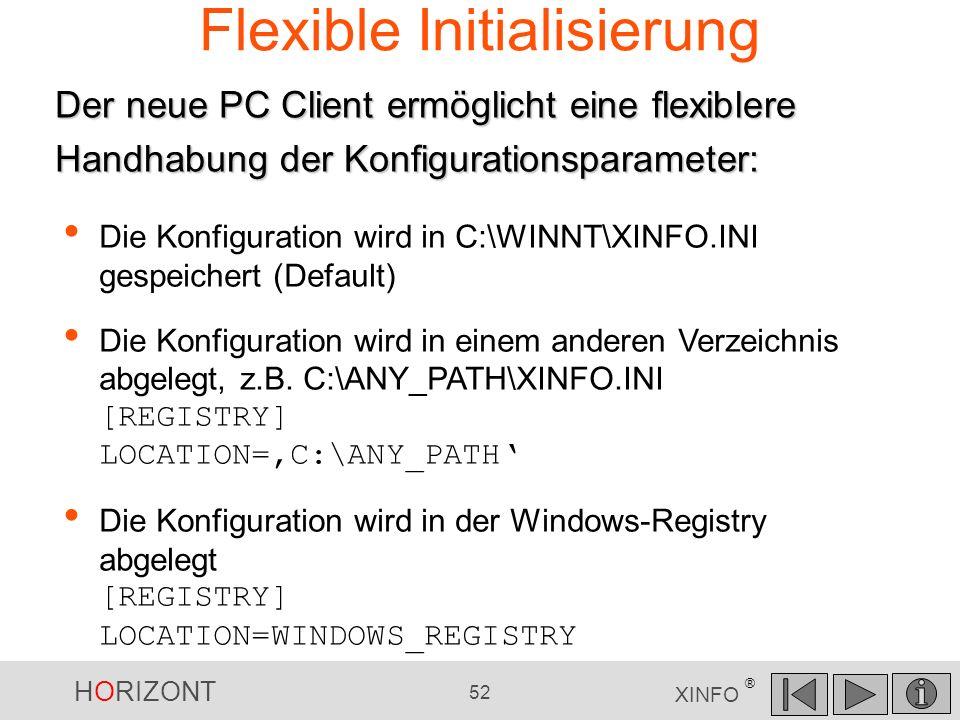 Flexible Initialisierung