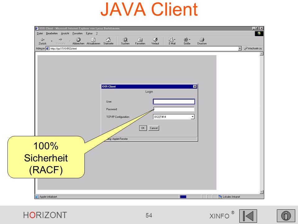 JAVA Client 100% Sicherheit (RACF)