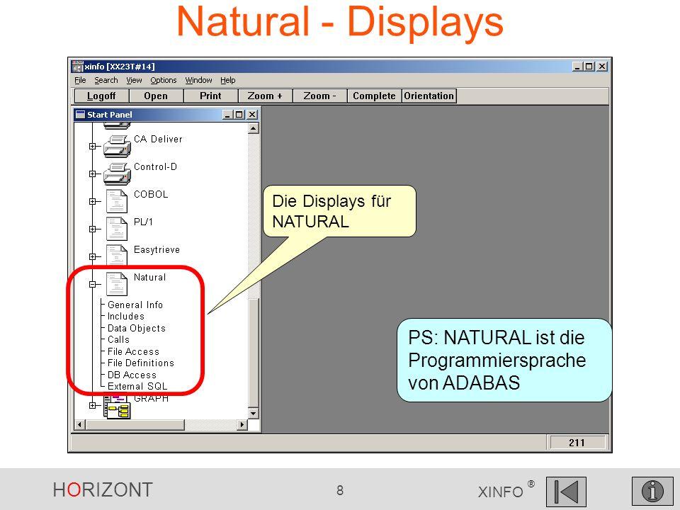 Natural - Displays PS: NATURAL ist die Programmiersprache von ADABAS