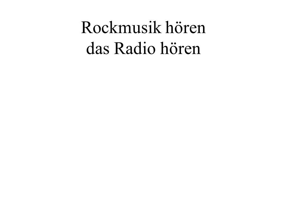 Rockmusik hören das Radio hören