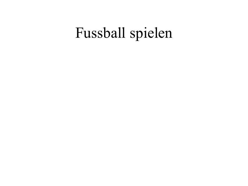 Fussball spielen