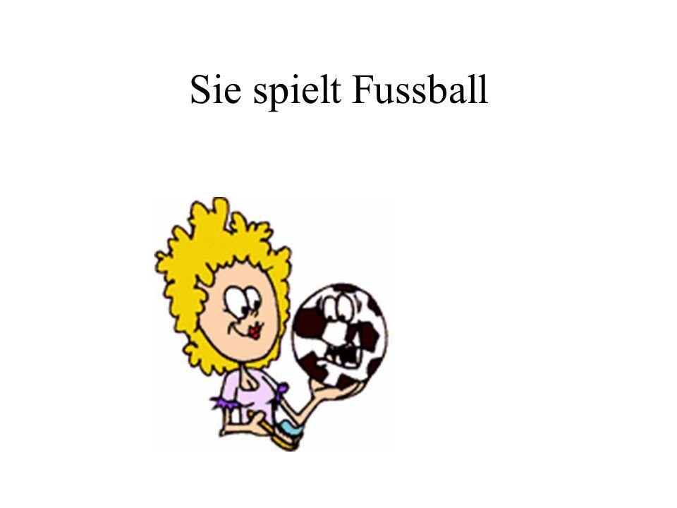 Sie spielt Fussball