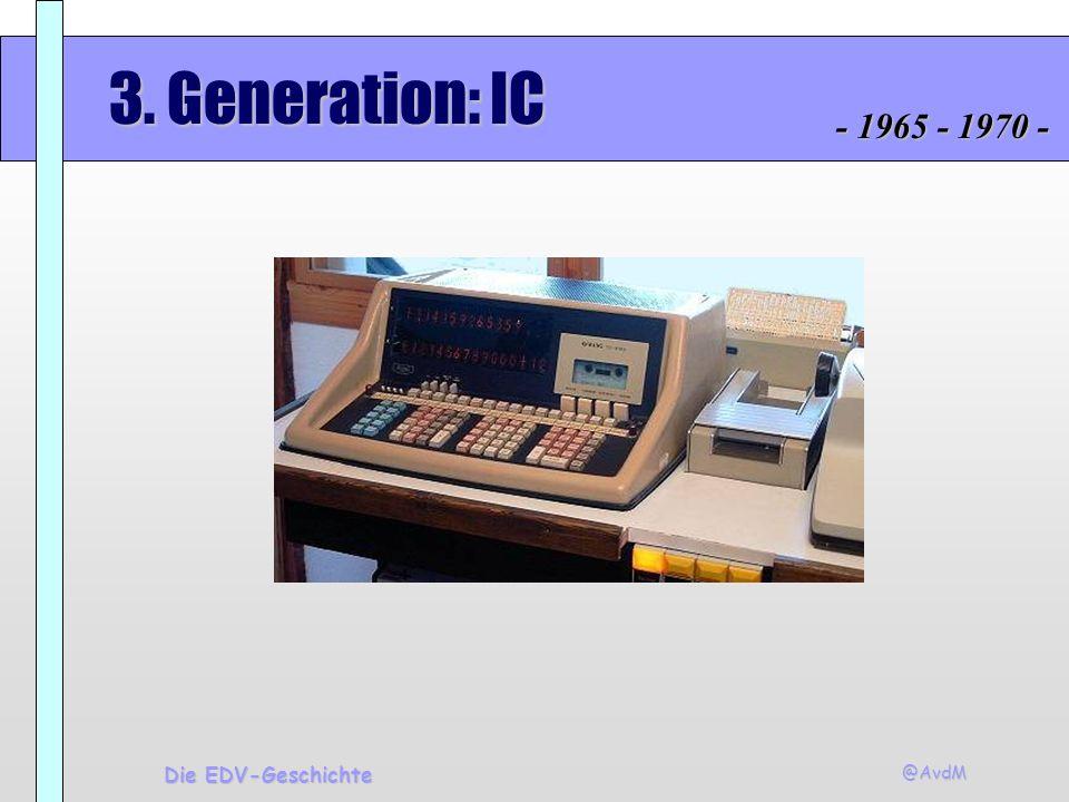 3. Generation: IC - 1965 - 1970 - Die EDV-Geschichte @AvdM