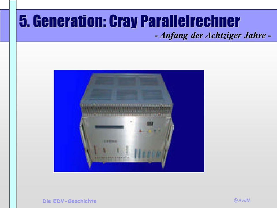 5. Generation: Cray Parallelrechner