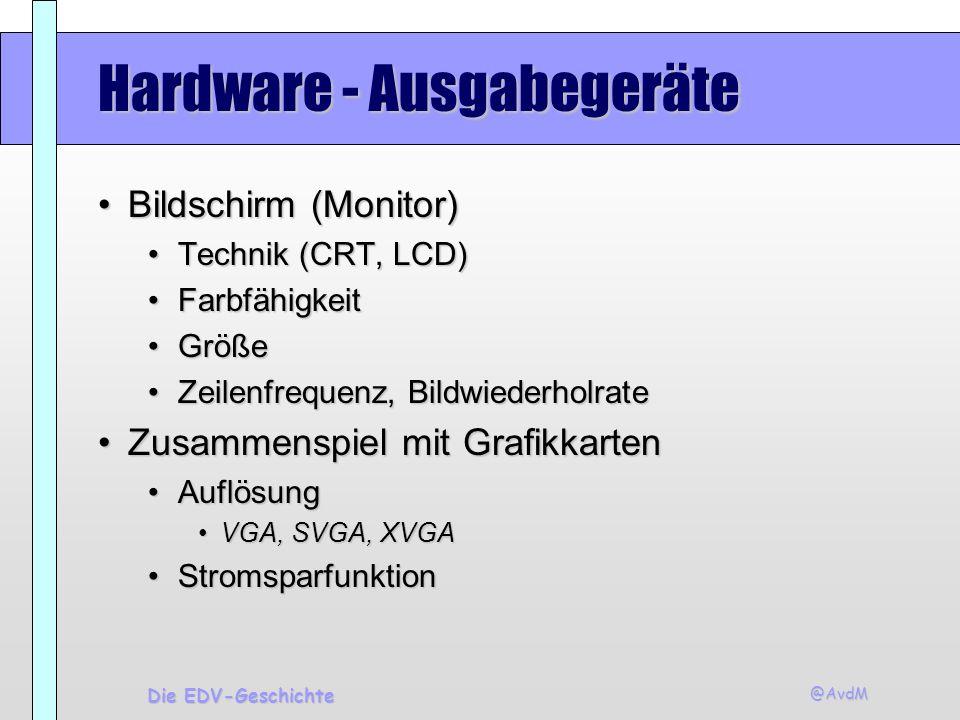 Hardware - Ausgabegeräte