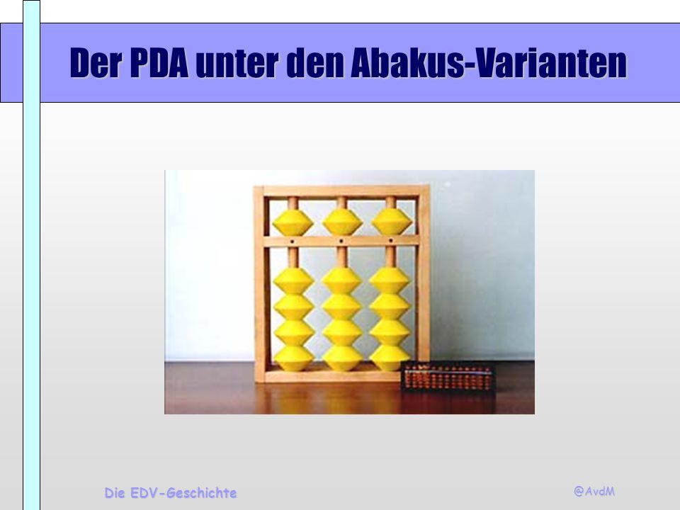 Der PDA unter den Abakus-Varianten