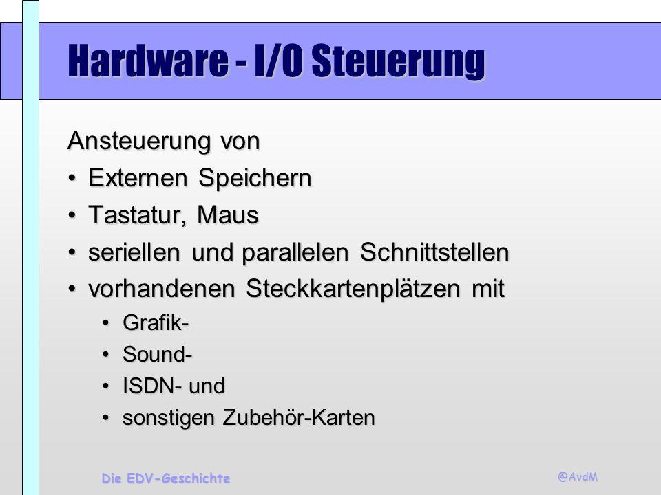 Hardware - I/O Steuerung